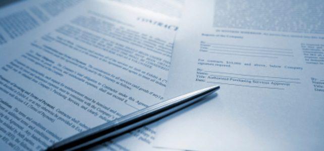 dokumenty připravené k podpisu
