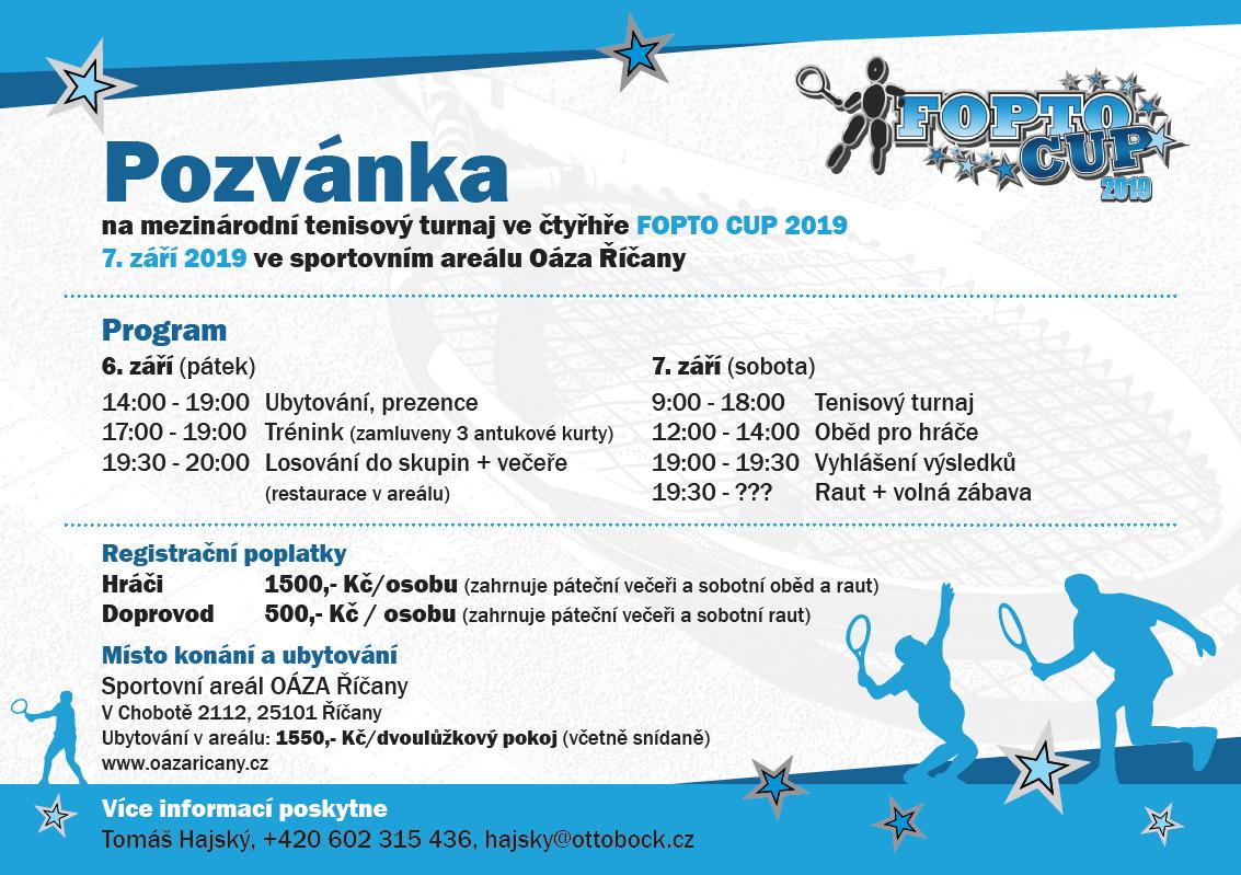 Pozvánka na FOPTO Cup 2019